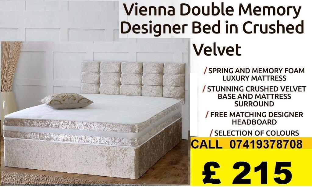 DEVIANA SINGLE DOUBLE KING SIZE MEMORY FOAM DESIGNERBeddingin Redbridge, LondonGumtree - IMPRESSIVES OFFER....EXTREME Quality Furniture like Divan and Leather Base available contact us