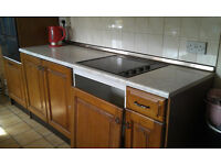 Kitchen for sale including units x 18 plus worktops, Electric Oven/ Hob ,hood