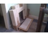 Art Deco tiled fireplace fire surround and kerbed hearth. If still in gumtree, is still for sale.