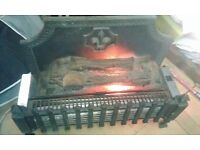 Wood Log Effect 2 Bar Electric Fire Convection Heater.