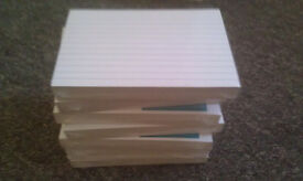 7 packs of foil-wrapped unused index note cards