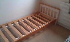 Children's Single Bed, Solid Wood Kids Bedroom Furniture