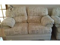 Three piece suite for sale - 2-seater sofa and 2 armchairs