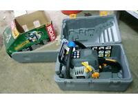 Ryobi chainsaw, fridge, freezer, lawnmower, gas burner