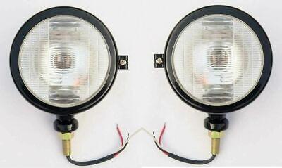 Massey Ferguson Tractor Head Lamps Lh-rh Lights Black Fits In 103535135148
