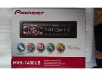 Pioneer MVH-1400UB ipod iphone Car stereo with front USB slot