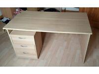 Desk and under desk drawer