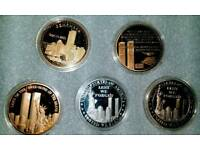 TWIN TOWER COMMEMORITIVE COIN SET. CAN POST.