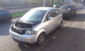 AUDI A2 1.4 petrol braking for pats