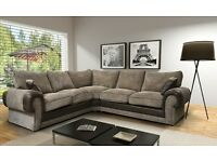 Massive size Ashley corner sofa with free pouffe