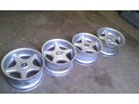 Set of 4 Genuine Brock B1's 16s for BMW E36 / E46 ect wheels alloys drift stanc