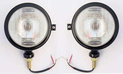 Massey Ferguson Tractor Head Lights Set-black Rh Lh Fits In 1035 35 135 148