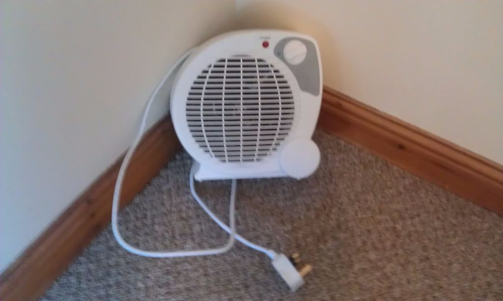 Portable Fan Heater Morrisons 2kw 3 Settings Cool Air