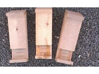 Three quality Bat Boxes with Landing Perch