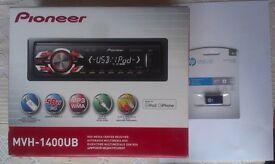 PIONEER MVH-1400UB CAR RADIO HEAD UNIT PLUS 8GB USB STICK