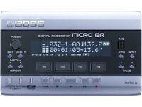 Boss Micro BR mini portable recording studio