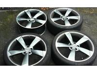 Several sets of 5x112 alloys to fit vw audi skoda seat mercedes etc