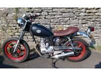 Brat style cafe 125 motorbike