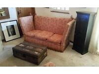 Vintage 3 Seater Knole Sofa - with 2 x FREE Armchairs