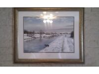"Limited Edition James Green Print ""Winter Walk"""