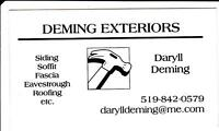DEMING EXTERIORS-ROOFING-Licensed and Insured!!
