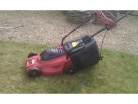 TESCO ELECTRIC LAWNMOWER WITH GRASSBOX- ideal for the smaller garden