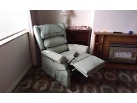 Electric Riser Recliner armchair with battery back-up in excellent condition