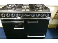 Falcon - 1092 Deluxe 110cm Dual Fuel Range COOKER - Black And Chrome