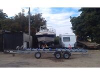 Quad / 4 place or Double / Dual / 2 place Jetski or Boat / RIB Roller Trailer