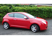 ALFA ROMEO MITO VELOCE 1.4 Turbo T120 5-Speed 3 Door. Very Low Mileage.