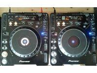 Pair of Pioneer CDJ1000s MK2