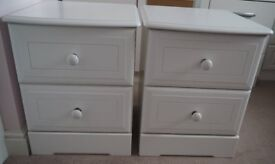 TWO TWO DRAWER KINGSTOWN NICOLE BEDSIDE CHESTS