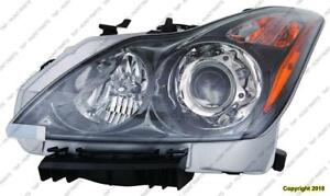 Head Light Driver Side Hid Coupe/Conv Withdark Titanium Bezel High Quality Infiniti G37 2011-2013