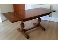 """Excellent condition. 4' x 2' 6""""rectangular dining table, with 2 x 1ft sliding extensions."""