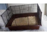 Hamster cage for sale plus food wheel 2 tunnles