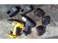 Einhell 18v drills (x2) for spares or repair.