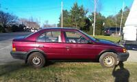 wanted a Toyota tercel