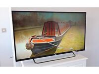 """40"""" JVC FULL HD SLIM LED TV BUILT IN FREEVIEW CHANNELS REMOTE CONTROL & STAND WITH FREE DELIVERY."""