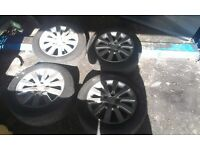 Honda civic ep2 sport type r alloy wheels rims with tyres 16 inch 5 stud 1.4 1.6