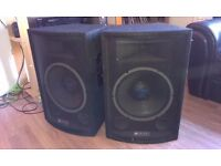"Skytec PA Speakers 25ow (pair) 12"" subs"
