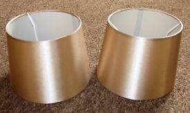 Lampshades x2, Gold