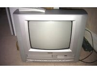 """Small TV 14 """" - TV + VCR + DVD player"""