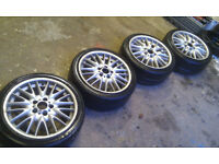 Set of 4 Genuine BMW MV1 alloys 18 inch for BMW E36 / E46 ect wheels alloys tyres