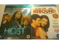 Blu-Ray Films x 2. (Rom/Com:- The Rebound & The Host)