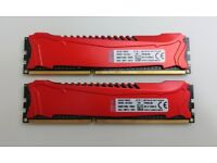 KINGSTON HyperX Savage Red 8GB (2x4GB) DDR3 PC3-19200 CL11 2400MHz Dual Channel Kit