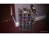 Wooden stackable wine rack