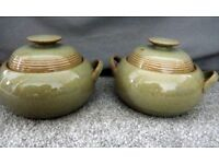 2 lovely Denby fine stone ware casserole dishes in excellent condition