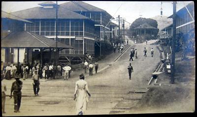 GUYANA ~ 1900's MAIN STREET IN GUYANA ~YMCA Military~Dentist~Real Photo PC  RPPC