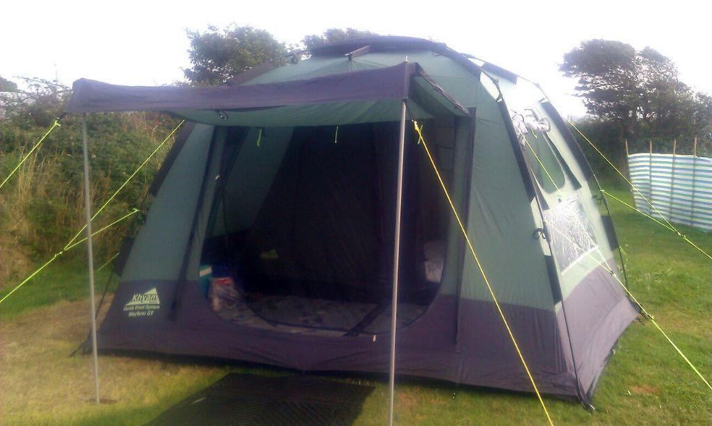 Khyam Wayfarer GT 4 man / berth (2 bedroom) rigidome quick erect tent - & Khyam Wayfarer GT 4 man / berth (2 bedroom) rigidome quick erect ...