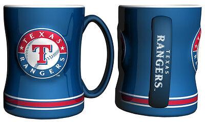 (Texas Rangers Blue Coffee Mug - 14oz Sculpted [NEW] Tea Warm Microwave Cup CDG)